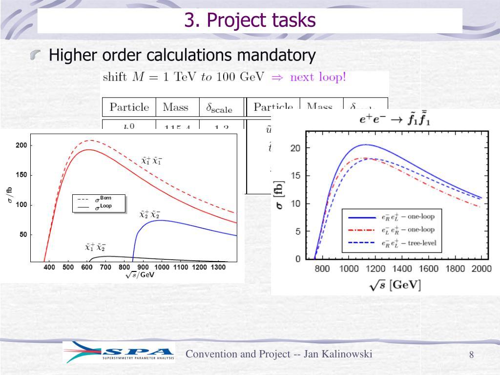 3. Project tasks