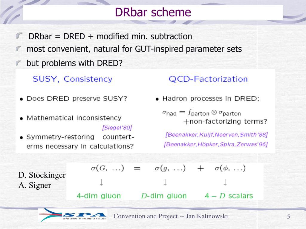 DRbar scheme
