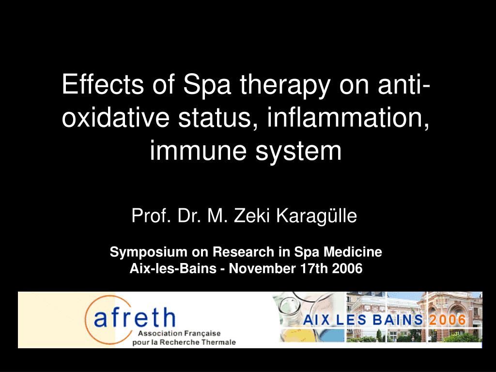 effects of spa therapy on anti oxidative status inflammation immune system l.