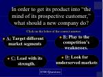 in order to get its product into the mind of its prospective customer what should a new company do