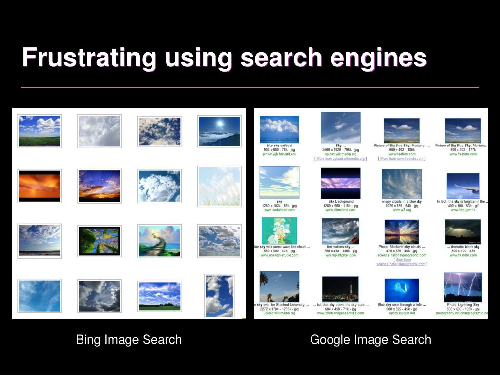 Frustrating using search engines