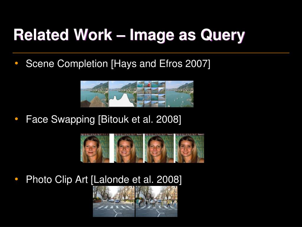 Related Work – Image as Query