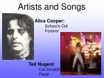 artists and songs5