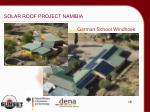 solar roof project namibia