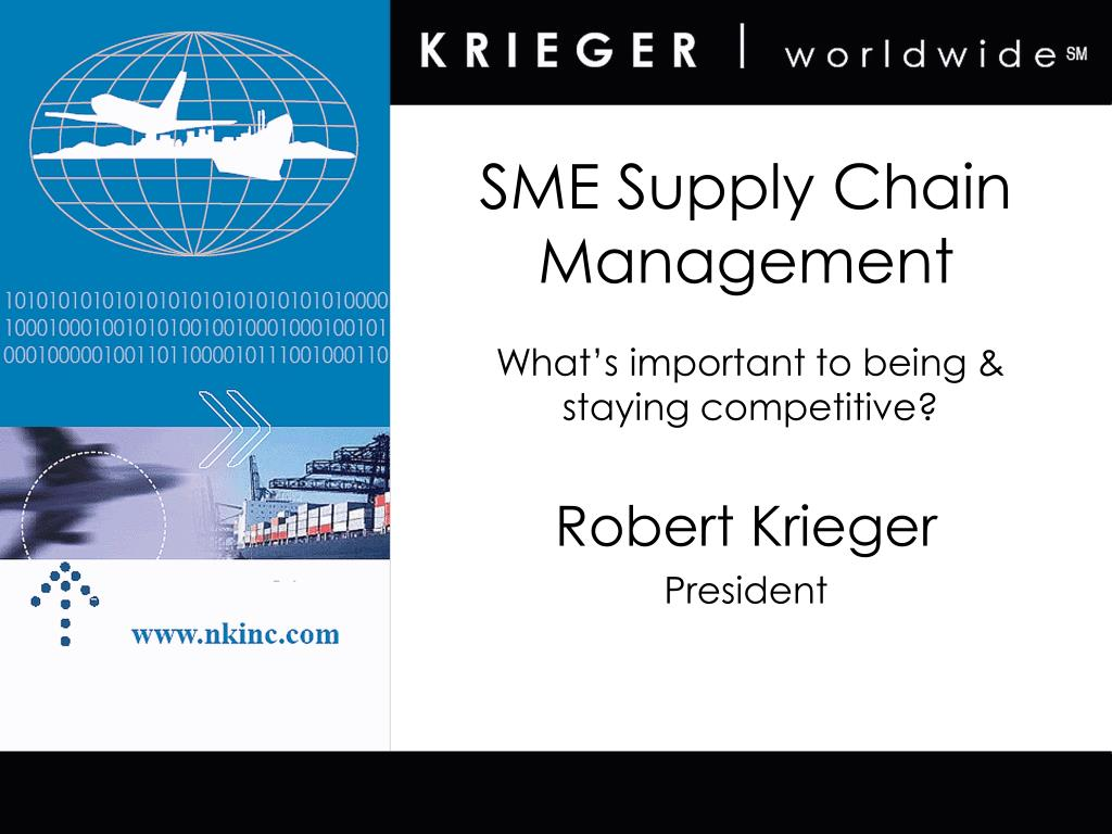 sme supply chain management l.
