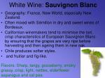 white wine sauvignon blanc