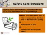 safety considerations1