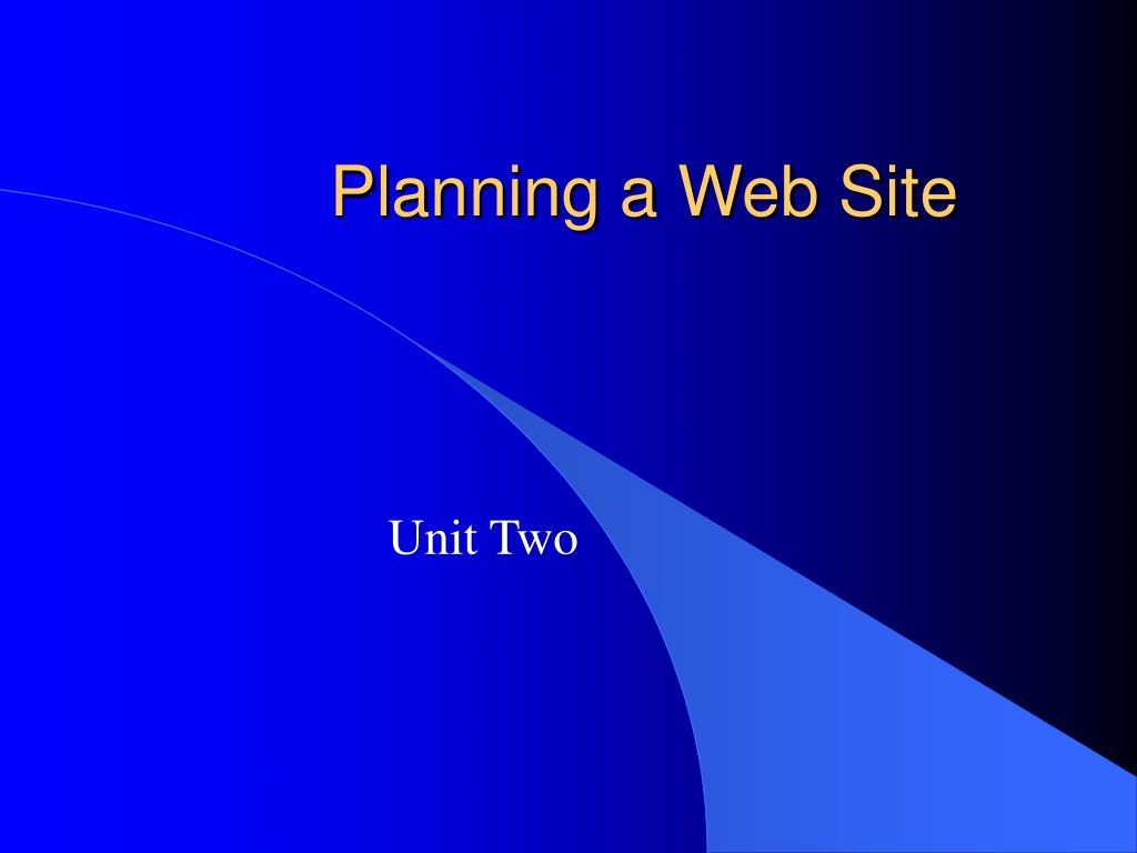 planning a web site l.