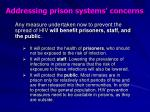 addressing prison systems concerns