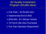 air quality investment program shuttle vans