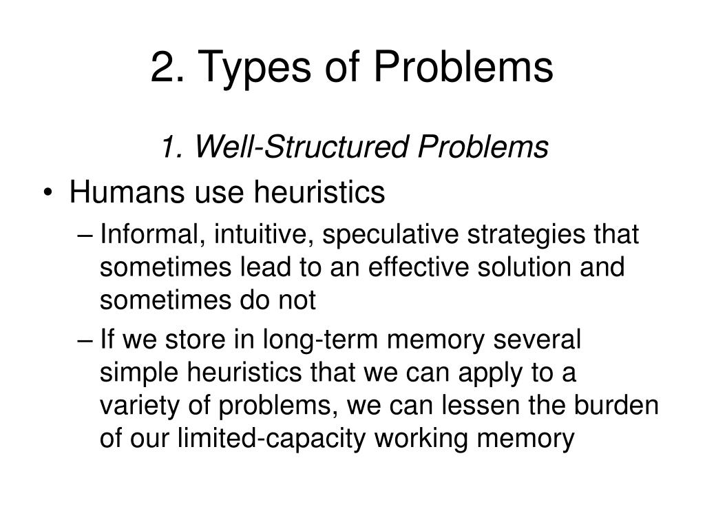 2. Types of Problems