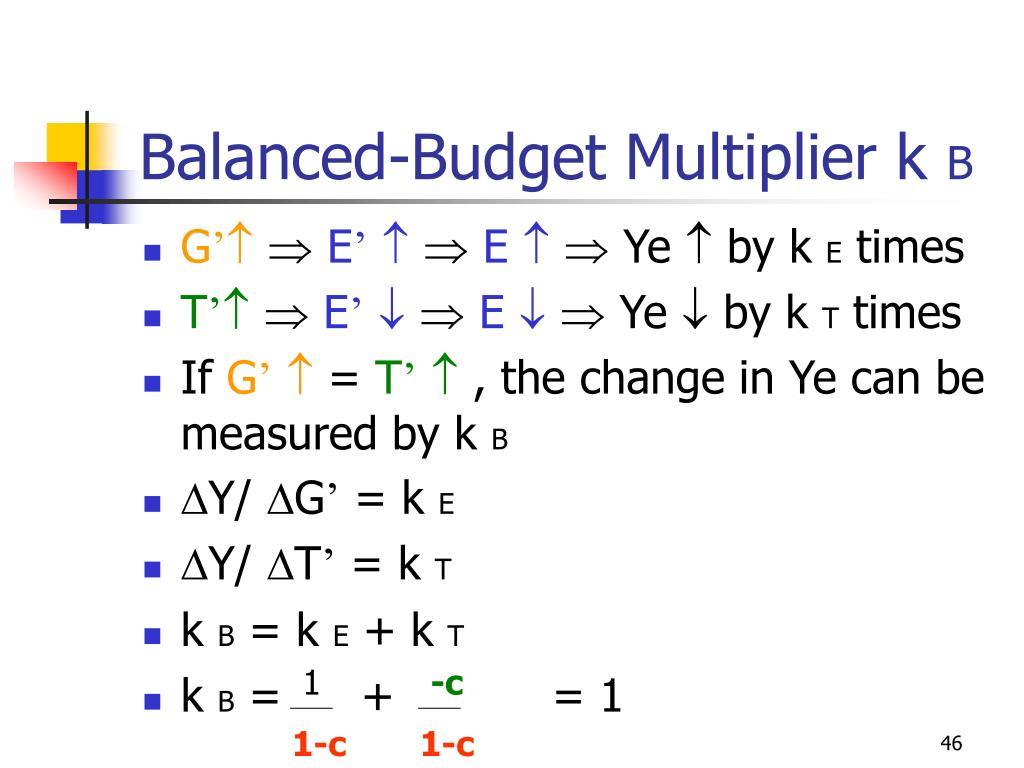 Balanced-Budget Multiplier k