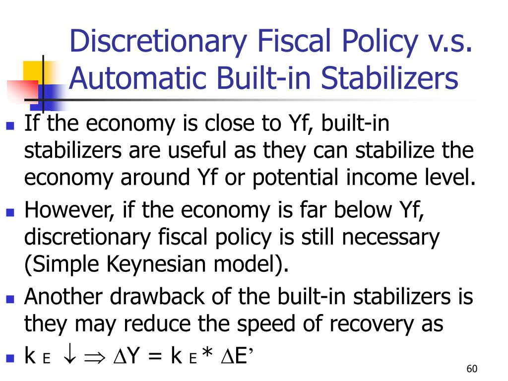 Discretionary Fiscal Policy v.s.