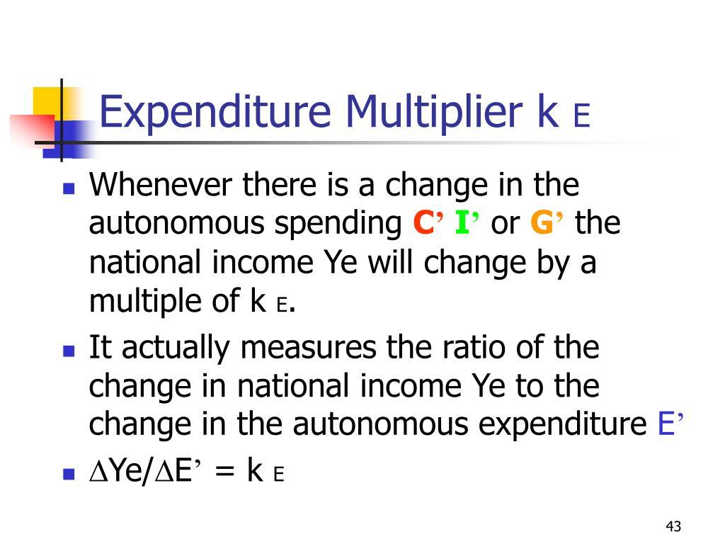 Expenditure Multiplier k