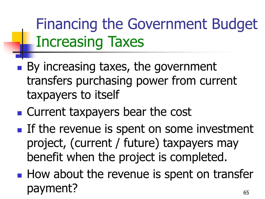 Financing the Government Budget