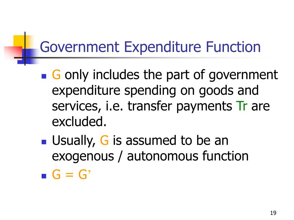Government Expenditure Function
