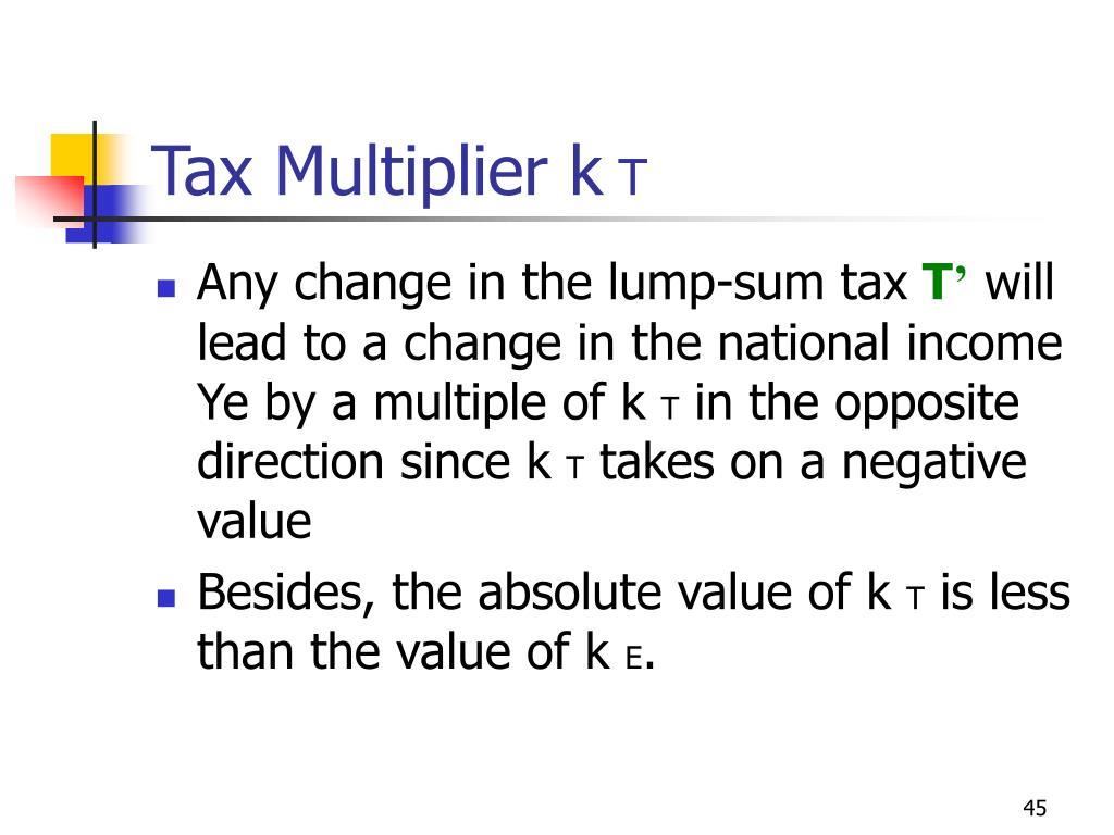 Tax Multiplier k