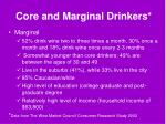 core and marginal drinkers7