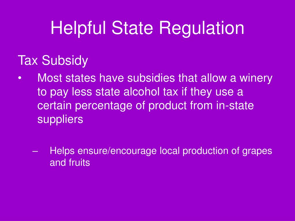 Helpful State Regulation