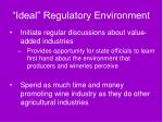 ideal regulatory environment78