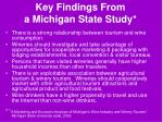 key findings from a michigan state study