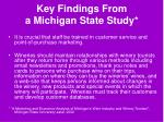 key findings from a michigan state study52