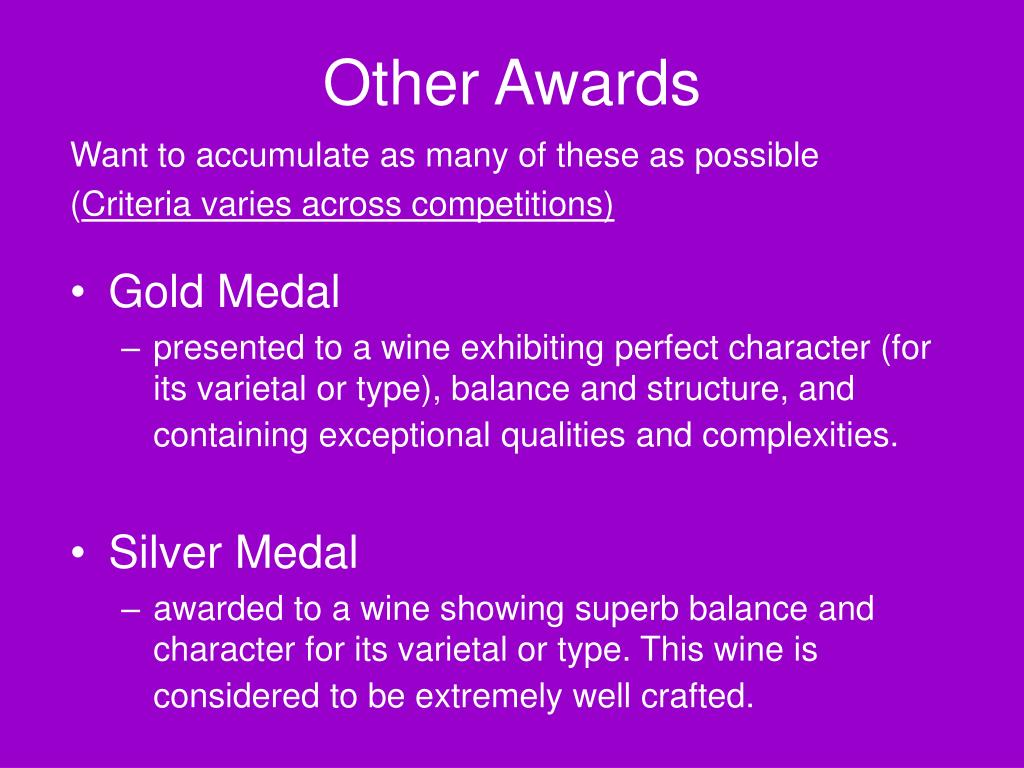 Other Awards