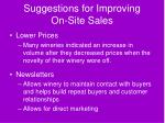 suggestions for improving on site sales54
