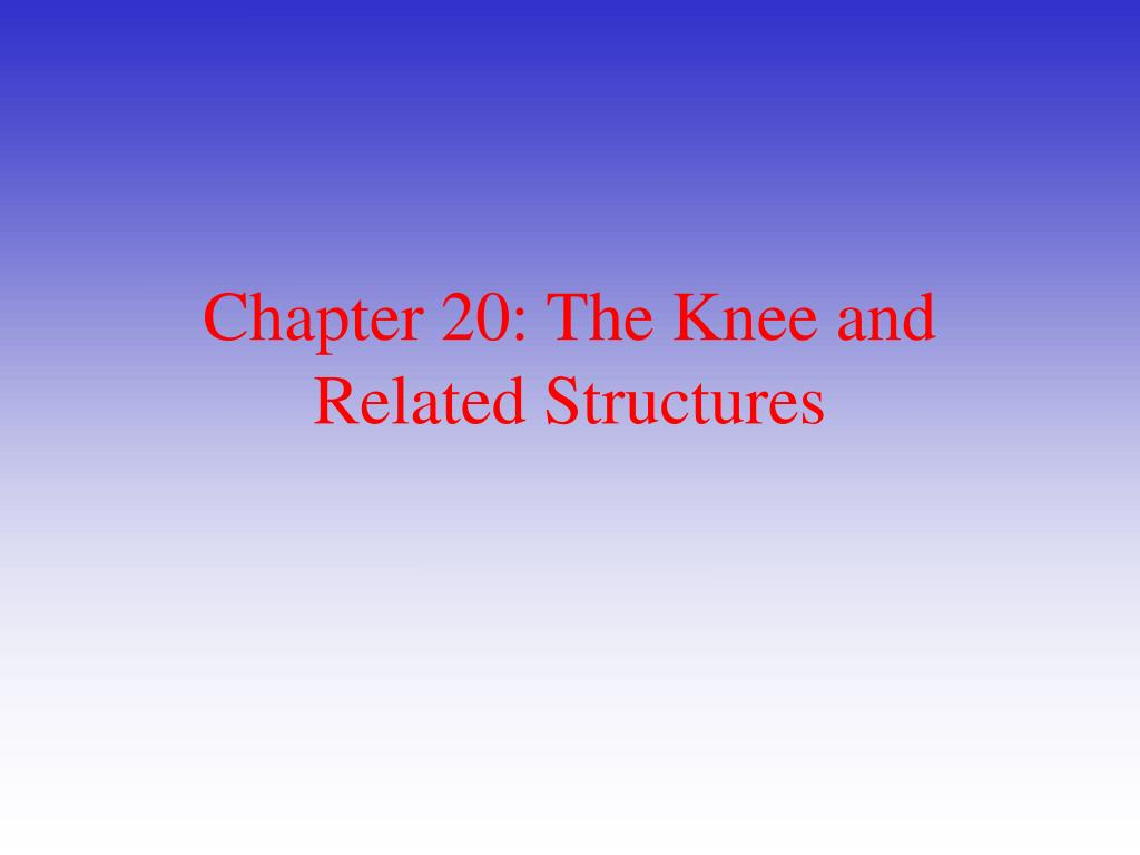 chapter 20 the knee and related structures l.