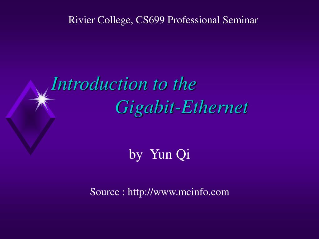 introduction to the gigabit ethernet