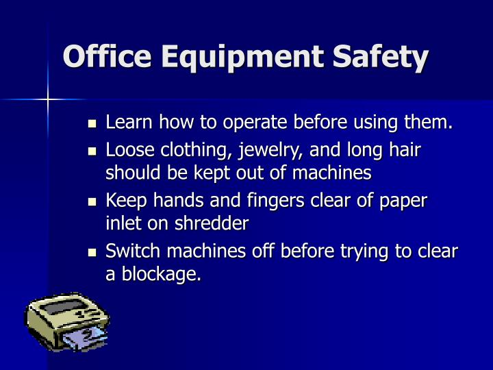 Office Equipment Safety