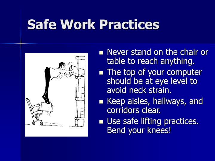 Safe work practices1