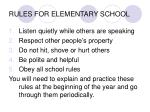 rules for elementary school