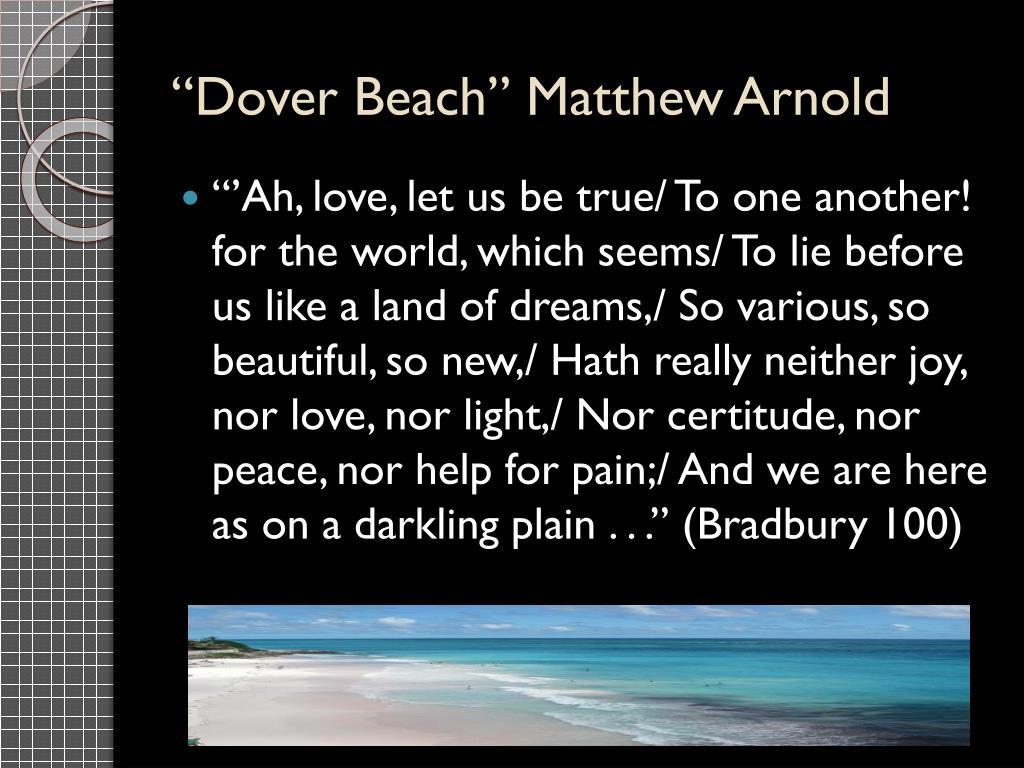 an examination of dover beach by matthew arnold