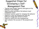 suggested steps for developing a self management plan