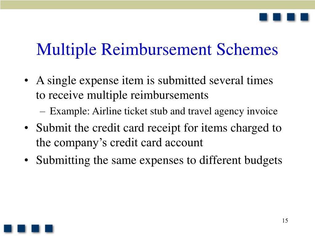 Multiple Reimbursement Schemes