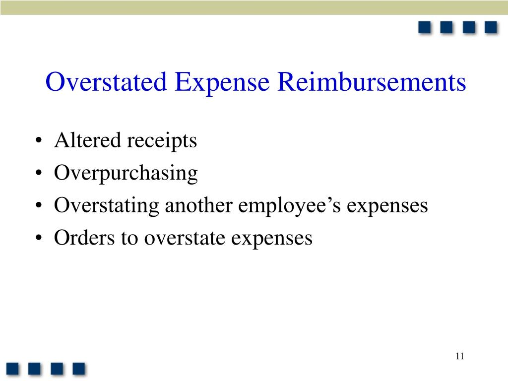 Overstated Expense Reimbursements