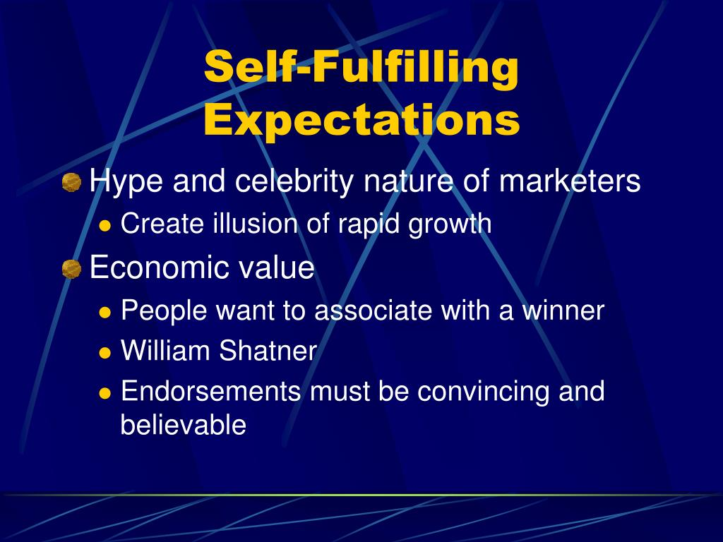 Self-Fulfilling Expectations