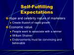self fulfilling expectations