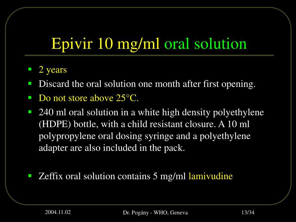 Epivir 10 mg/ml