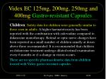 videx ec 125mg 200mg 250mg and 400mg gastro resistant capsules10