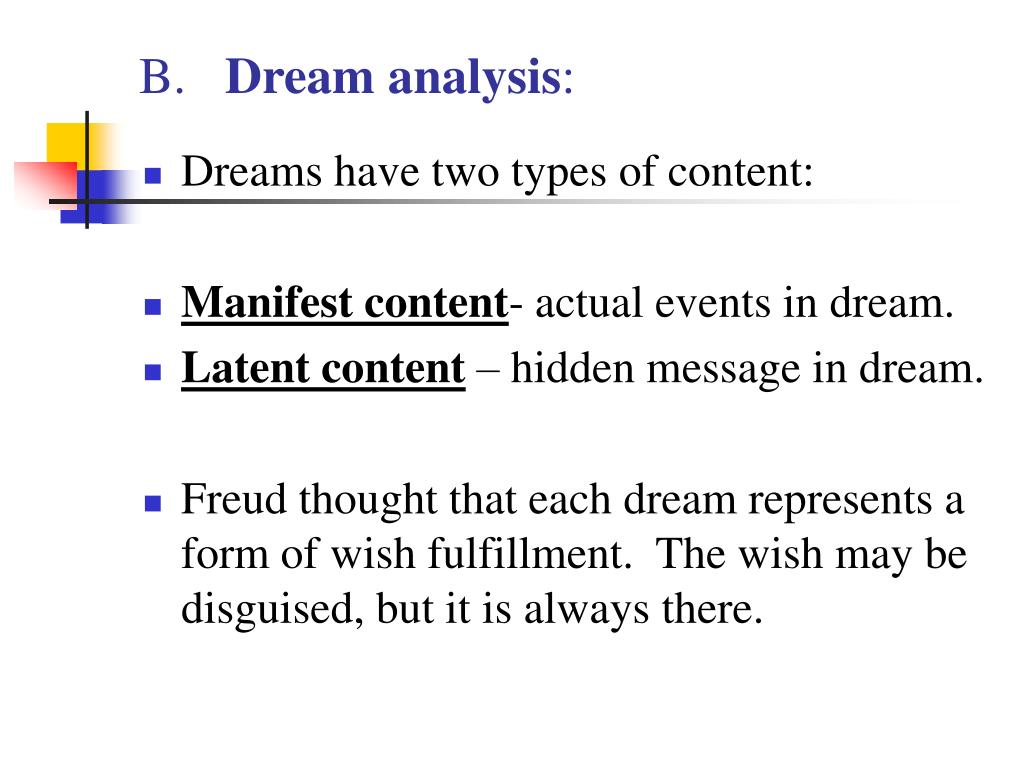 freud and dream analysis