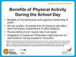 benefits of physical activity during the school day