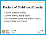 factors of childhood obesity