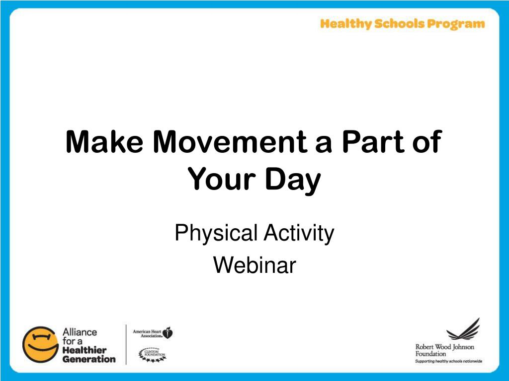 make movement a part of your day l.