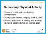 secondary physical activity14
