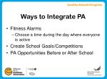 ways to integrate pa8