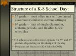 structure of a k 8 school day