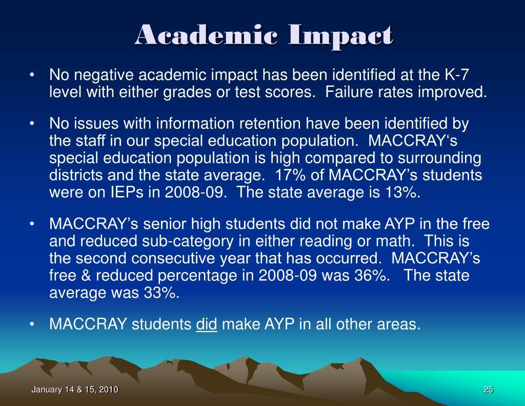Academic Impact