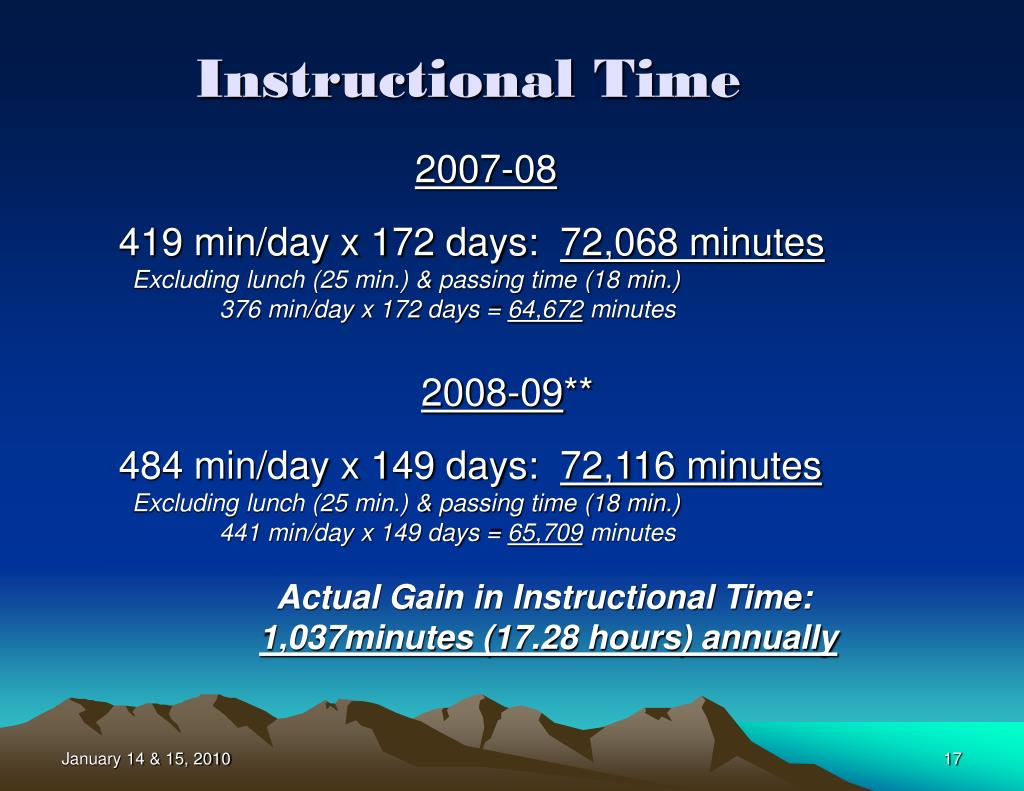 Instructional Time